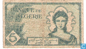 Bankbiljetten - 1942-1943 issue - Algerije 5 Francs 1942