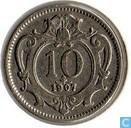 Austria 10 heller 1907