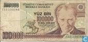 Turkey 100,000 Lira ND (1991/L1970) P205a