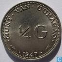Curaçao ¼ gulden 1947