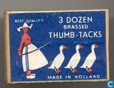 3 Dozen brassed Thumb-Tacks