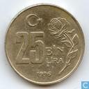 Turkije 25 bin lira 1996