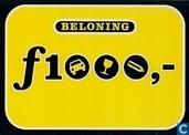 "U000341 - Politie ""Beloning f1000,-"""