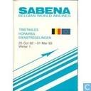 SABENA - 25 oct 1992 - 01 mar 1993