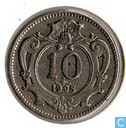 Austria 10 heller 1908