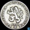 Tsjecho-Slowakije 20 haleru 1921