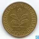 Coins - Germany - Germany 10 pfennig 1980 (F)