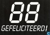"""S000731 - 75 B """"88 Gefeliciteerd!"""""""
