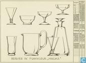 Glas / kristal - Kristalunie - Halma waterglas fumi