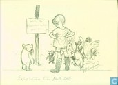 Winnie de Pooh - `They stuck the pole in the ground, and Christopher Robin tied a message to it`