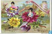 Blumen mit Figuren im Kelch