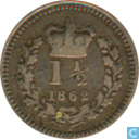 United Kingdom 1.5 pence 1862