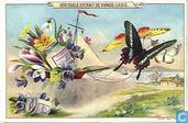 Blumen, Vögel und Schmetterlinge