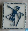 Lodalientje op zegeltje [blauw]