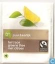 fairtrade groene thee met citroen