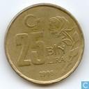 Turkije 25 bin lira 1998