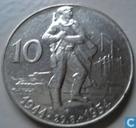 "Tsjecho-Slowakije 10 korun 1954 ""10th Anniversary - Slovak Uprising"""