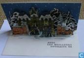 Carte de Voeux Tintin 1966 - Kerstkaart Kuifje 1966 - Hergé