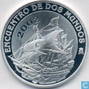 "Spain 10 euro 2002 (PROOF) ""Encounter of the two Worlds - Ships"""