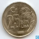 Turkije 25 bin lira 1999