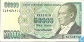 Turkije 50.000 Lira ND (1995/L1970)