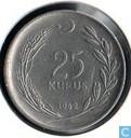 Turkije 25 kurus 1962