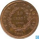 France 10 centimes 1816 (trial)