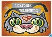 """S001069 - Shamrock """"4 Oktober Dierendag Love me"""""""