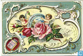 Blumen und Amoretten
