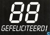 """U000467 - 75B """"88 Gefeliciteerd!"""""""