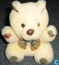 Licht beige beer met strik
