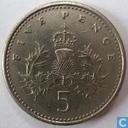 Monnaies - Royaume-Uni - Royaume Uni 5 pence 1990