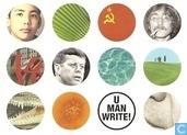 """U001092 - Amnesty International """"U man write!"""""""