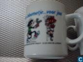 """Tasse de café """"Een bloemetje ... voor jou"""""""
