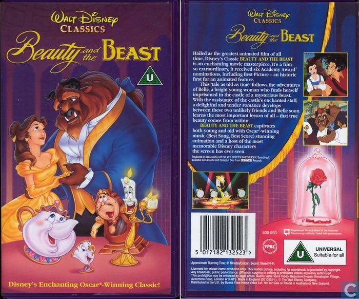 Beauty and the Beast [volle box] - VHS video tape - Catawiki