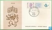 Cijfer op heraldieke leeuw & Koning Boudewijn