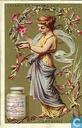Frauengestalten in Blumenzweigen