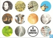 "Postcards - Amnesty - U001093 - Amnesty International ""U man write!"""