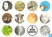 """U001093 - Amnesty International """"U man write!"""""""