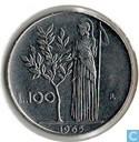 Italië 100 lire 1965