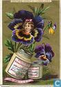 Blumen mit Mädchenköpfen