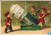 Oudste item - children,  golden background 1-12