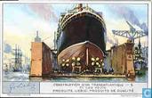 Bau eines Übersee-Dampfers