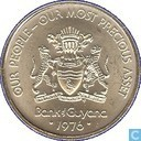 "Guyana 25 cents 1976 (Matte) ""10th Anniversary of Independence - Harpy - Self Determination"""