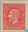 Leopold II in profile to the left
