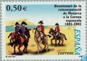Beitritt Spaniens Menorcas Königreich