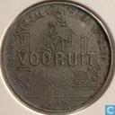 """België 1 frank deeljeton 1880 """"Vooruit, Gent"""""""