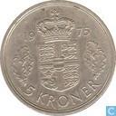 Danemark 5 kroner 1975