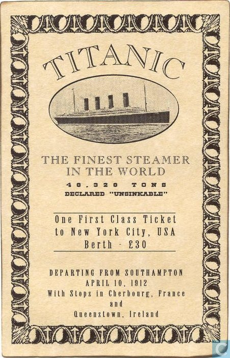 Titanic Lesson Plans amp Worksheets  Lesson Planet