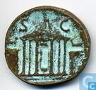 Roman Empire Emperor Posthumous Dupondius 8 22 to 23 AD.